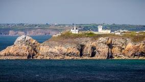 View of Cape Toulinguet, Camaret sur mer, Brittany (Bretagne), F. Rance stock images