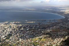 View on Cape Town City and Atlantic ocean Stock Image