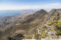View on Cape Town from top of the table mountain Royalty Free Stock Image