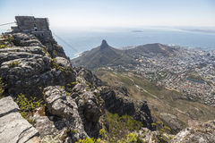 View on Cape Town from top of the table mountain Royalty Free Stock Photo