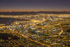 View of Capetown South Africa. A view of Capetown city from the top of Lionshead Royalty Free Stock Image