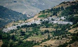 View of Capileira, town in Sierra Nevada, Granada Royalty Free Stock Photos