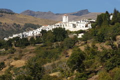 View of Capileira village in Alpujarras Royalty Free Stock Image