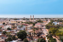 View of the capital Banjul Gambia. West Africa Gambia Banjul Royalty Free Stock Photo