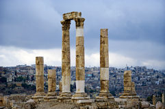 View of the capital city Amman. Jordan. Royalty Free Stock Photo