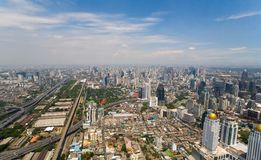 Beautiful views of the capital of Thailand Bangkok. View of the capital of Thailand Bangkok from a bird`s eye view Royalty Free Stock Images