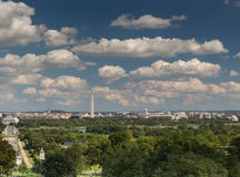 The view of the capital, Washington DC from Arlington Cemetery. The view of Washington DC from Arlington Cemetery Royalty Free Stock Image