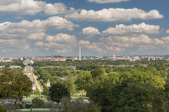 The view of the capital, Washington DC from Arlington Cemetery. The view of Washington DC from Arlington Cemetery Royalty Free Stock Photography