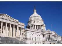 View of the Capitol Building. The Capitol Building of the United States in Washington, DC Royalty Free Stock Photos