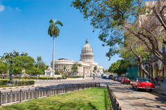 View of the Capitol building in downtown Havana Stock Photo