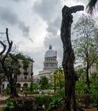 View of the capitol of La Havana Cuba royalty free stock photo