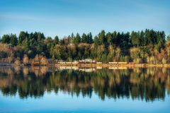 Landscape of a cold fall day. A view of capitol lake. A nice fall day stock images