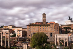 View of the Capitoline Hill and the Forum Romanum Royalty Free Stock Image