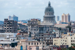 View of the Capitolio and surroundings in Havana, Cuba Stock Images