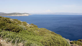 View from Capo Caccia royalty free stock photo