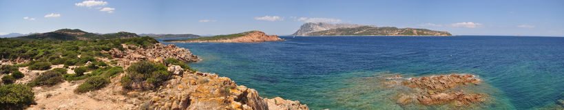 View from Capo coda cavallo Royalty Free Stock Photo