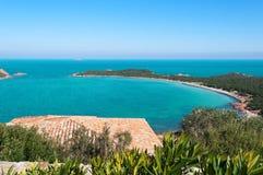 View of Capo Coda Cavallo. View of beautiful Capo Coda Cavallo, Sardinia Royalty Free Stock Images