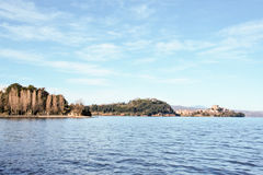 View of Capodimonte on Bolsena lake Stock Photos