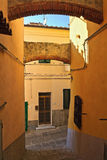 View in Capoliveri - Elba Island. Ancient street in Capoliveri, ancient small town in Elba island, Italy Stock Images
