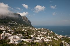 View of Capri Amalfi Coast. View from the top of Capri Royalty Free Stock Photography
