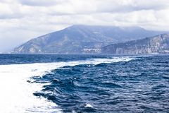 View on Capri island from boat Stock Photography