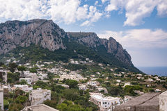 View of Capri Island in Italy Stock Images