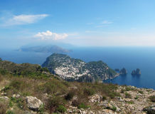 View of Capri, Italy, from Monte Solaro Stock Photo