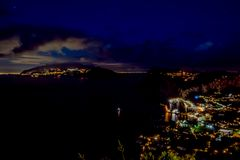 View from Hotel San Michele in Anacapri at dusk, Capri, Italy Stock Photos