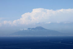 View from Capri to Vesuvius and the Tyrrhenian Sea, Italy. Stock Photos