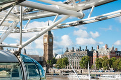 View at capsule and Westminster from London Eye Royalty Free Stock Photography