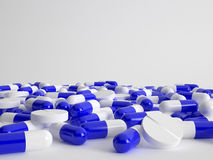 View of capsules and pills Royalty Free Stock Photography