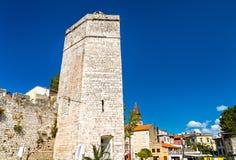 The Captain tower in Zadar, Croatia royalty free stock photos