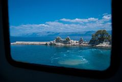 View from car ferry. A View from car carry from Trpanj to Ploce. Dalmatia, Croatia Royalty Free Stock Images