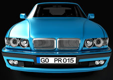 View of the car in front. 3D illustration. Royalty Free Stock Images