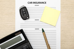 View of car insurance concept. View of Concept of car insurance Stock Photos