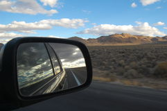 View from car mirror Stock Image