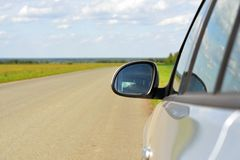 View on car mirror Stock Images