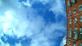 View through car`s moonroof during a city tour stock video footage