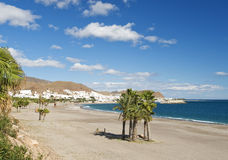 View of Carboneras Beach Royalty Free Stock Photography