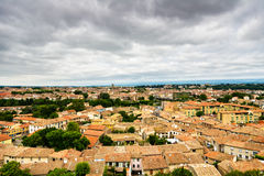 View of Carcassonne from above Royalty Free Stock Images
