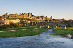View of Carcassonne dark (France) Royalty Free Stock Image