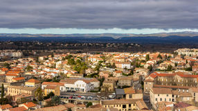 View of Carcassonne from the fortress - Languedoc, France Stock Images