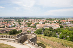 View of Carcassonne from the fortress - Languedoc Stock Photo