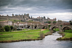 View of Carcassonne in Languedoc-Rosellon (France) Stock Images