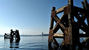 View of Cardiff Bay. Under a beautiful morning sun Wales Stock Photography