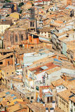 View of  Cardona roofs from castle Royalty Free Stock Photography