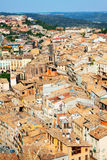 View of  Cardona roofs from castle Royalty Free Stock Photos