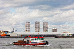 View of cargo port in Rotterdam Royalty Free Stock Images