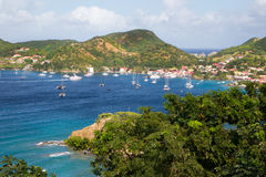 View at the caribbean island Martinique. Landscape from the caribbean island Martinique Royalty Free Stock Image