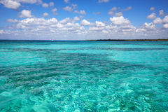 View from Caribbean Sea on coast  Dominican Royalty Free Stock Photography